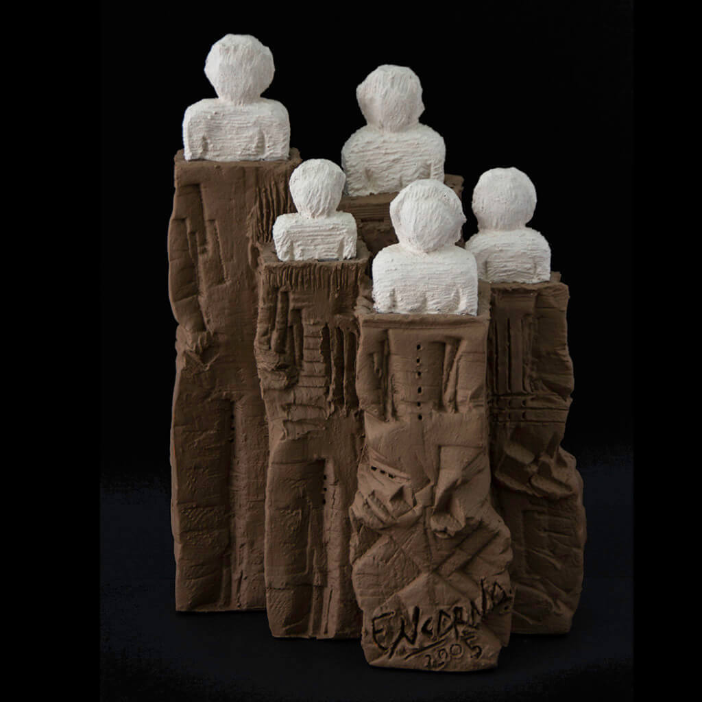 Fen Mugüerza - escultora ceramista - Taller de arte en Ourense - El grupo