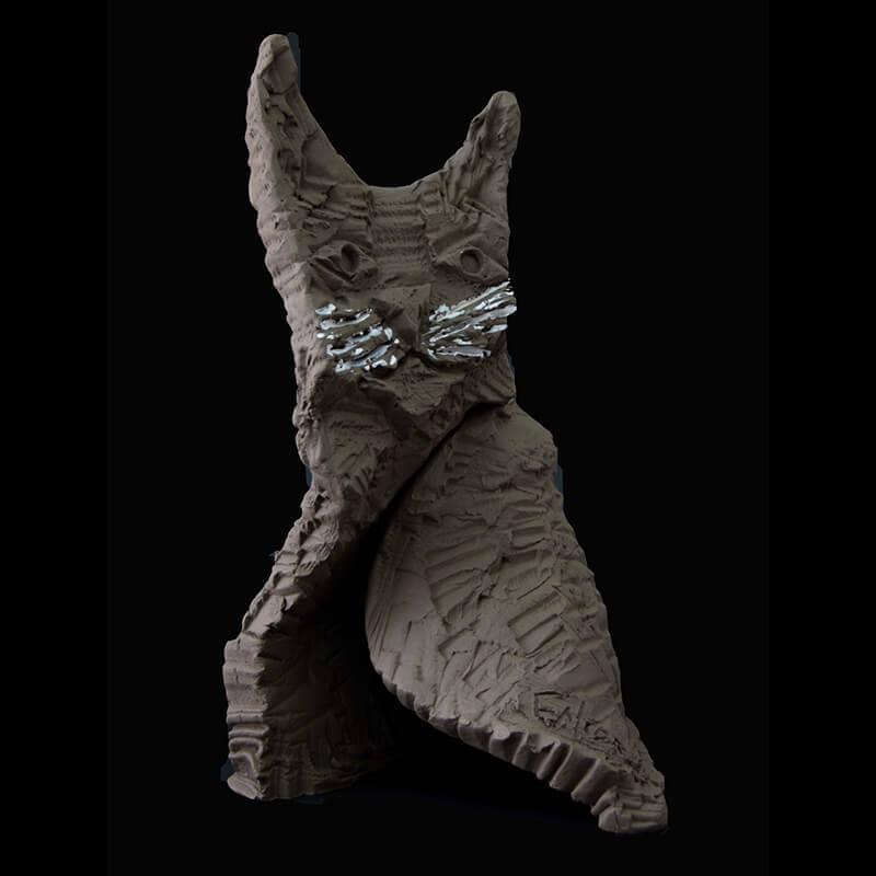 Fen Mugüerza - escultora ceramista - Taller de arte en Ourense - Gato