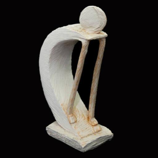 Fen Mugüerza - escultora ceramista - Taller de arte en Ourense - Luna