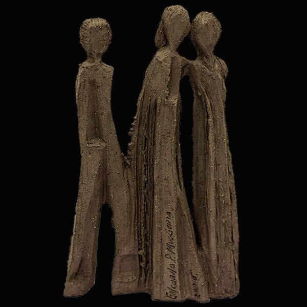 Fen Mugüerza - escultora ceramista - Taller de arte en Ourense - tres