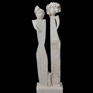 Fen Mugüerza - escultora ceramista - Taller de arte en Ourense - PIEZA ÚNICA de Terracota, es un regalo exclusivo, un regalo original, regalo de boda original y exclusivo. . Cerámica contemporánea realizada en barro, arcilla o pasta refractaria.