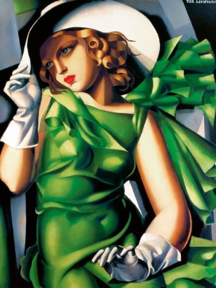 Joven muchacha con guantes 1929