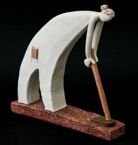PIEZA ÚNICA de Terracota, es un regalo exclusivo y un regalo original. Cerámica contemporánea