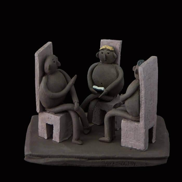Fen Mugüerza - escultora ceramista - Taller de arte en Ourense - La tertulia