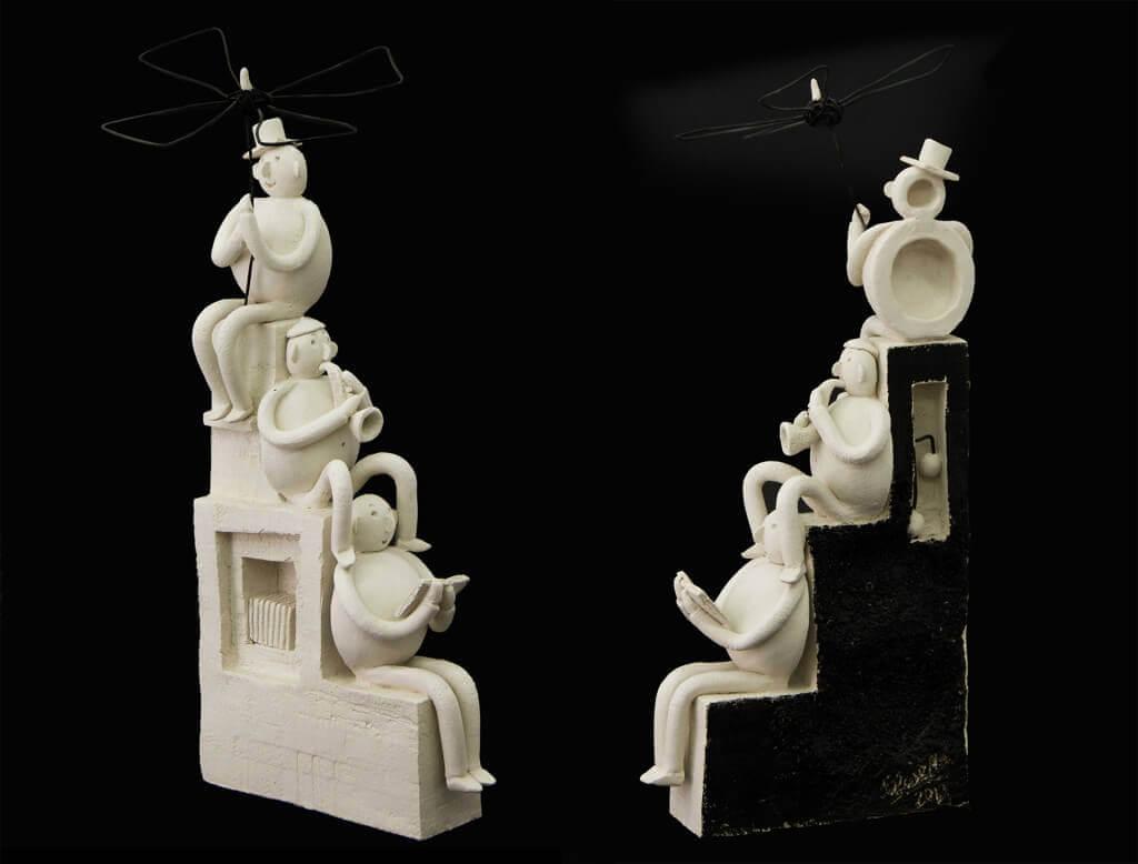 Fen Mugüerza - escultora ceramista - Taller de arte en Ourense - escalera de la cultura