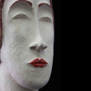 PIEZA ÚNICA de Terracota, es un regalo exclusivo, un regalo original, regalo para boda. Cerámica contemporánea realizada en pasta gres cocida a 1.000 ºC y con los detalles pintados con barbotinas