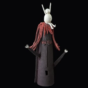 Fen Mugüerza - escultora ceramista - Taller de arte en Ourense - PIEZA ÚNICA de Terracota, es un regalo exclusivo y un regalo original. Cerámica contemporánea realizada en pasta gres cocida a 1.000 ºC y con los detalles pintados con barbotinas y pinturas al agua