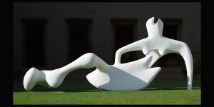 Henry Moore - Reclining Figure, (1951) painted plaster